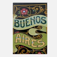 Buenos Aires fileteado Postcards (Package of 8)