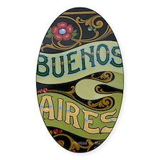 Buenos Aires fileteado Decal