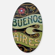 Buenos Aires fileteado Sticker (Oval)