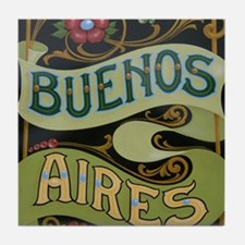 Buenos Aires fileteado Tile Coaster