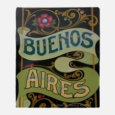 Buenos Aires fileteado Throw Blanket