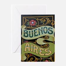 Buenos Aires fileteado Greeting Card