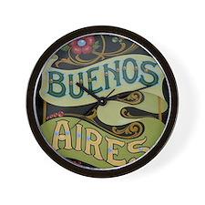 Buenos Aires fileteado Wall Clock