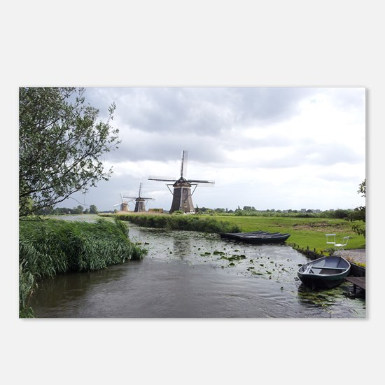 Dutch windmills Postcards (Package of 8)
