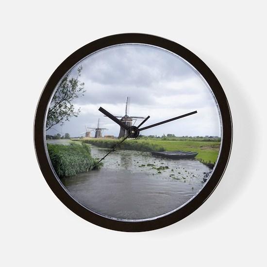 Dutch windmills Wall Clock