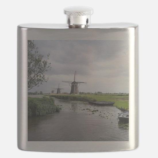 Dutch windmills Flask