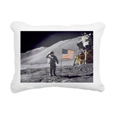 Scotts Lunar Salute Rectangular Canvas Pillow