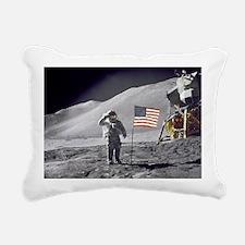 Scotts Lunar Salute Rectangular Canvas Pillow