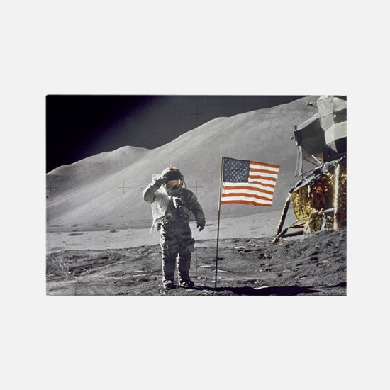 Scotts Lunar Salute Rectangle Magnet