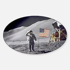 Scotts Lunar Salute Sticker (Oval)