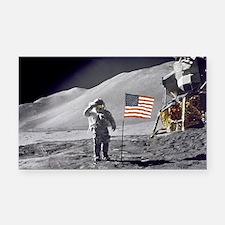Scotts Lunar Salute Rectangle Car Magnet