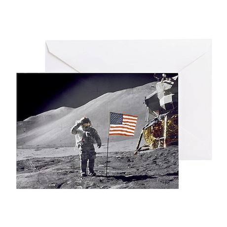 Scotts Lunar Salute Greeting Card