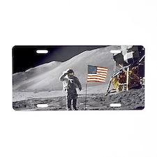 Scotts Lunar Salute Aluminum License Plate