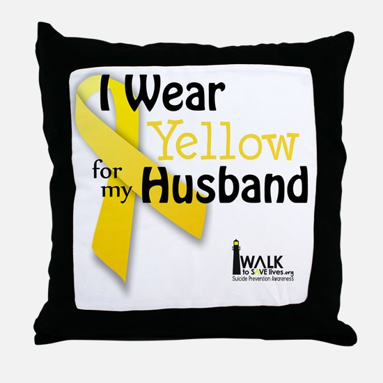 i_wear_yellow_for_my_husband_updated Throw Pillow