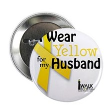 """i_wear_yellow_for_my_husband_updated 2.25"""" Button"""
