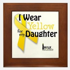 i_wear_yellow_for_my_daughter_updated Framed Tile