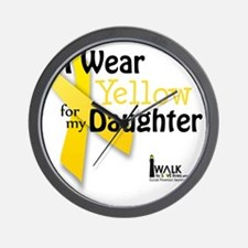i_wear_yellow_for_my_daughter_updated Wall Clock