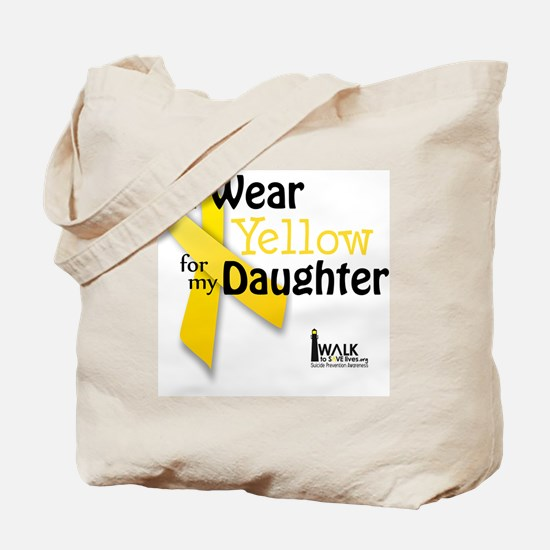 i_wear_yellow_for_my_daughter_updated Tote Bag