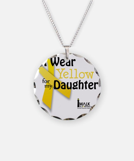 i_wear_yellow_for_my_daughte Necklace