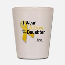 i_wear_yellow_for_my_daughter_updated Shot Glass