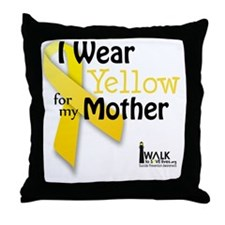 Wear Yellow For Throw Pillow