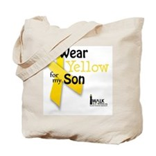i_wear_yellow_for_my_son_updated Tote Bag