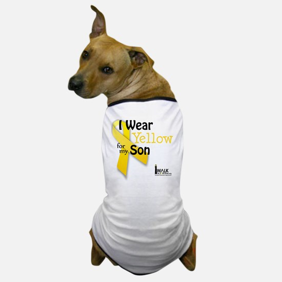 i_wear_yellow_for_my_son_updated Dog T-Shirt