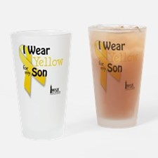 i_wear_yellow_for_my_son_updated Drinking Glass