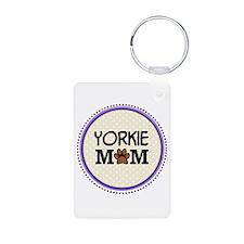 Yorkie Dog Mom Keychains