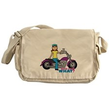 Biker Girl Messenger Bag
