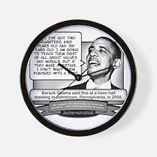 Obama Sez Babies Are Punishments Wall Clock