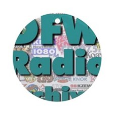 DFW Radio Archives - Square Logo Round Ornament