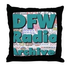 DFW Radio Archives - Square Logo Throw Pillow