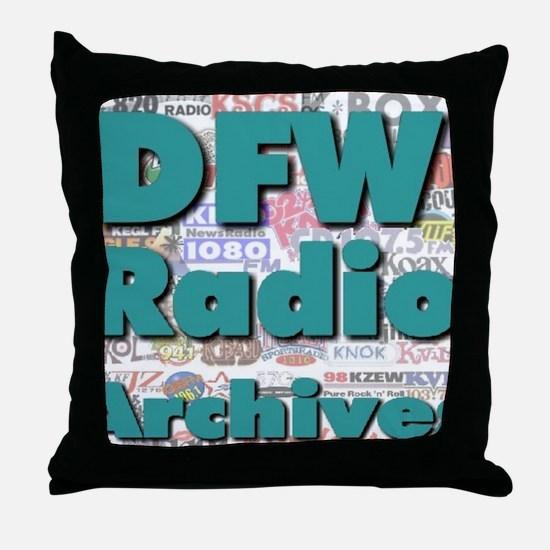 DFW Radio Archives - Square Logo Throw Pillow