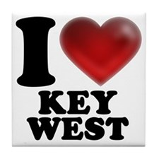 I Heart Key West Tile Coaster
