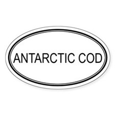 Oval Design: ANTARCTIC COD Oval Decal
