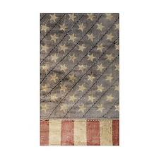 Vintage patriot flag iphone 4  Decal