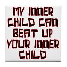 inner child beat Tile Coaster