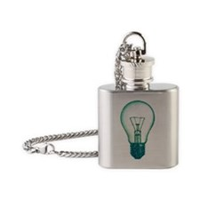 light bulb lamp pixel Flask Necklace