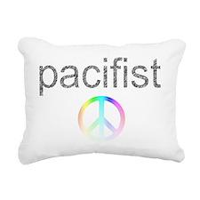 pacifist Rectangular Canvas Pillow