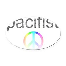 pacifist Oval Car Magnet