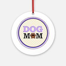 Dog Mom Ornament (Round)