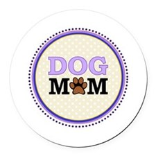 Dog Mom Round Car Magnet