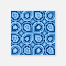 """Retro Pattern Square Sticker 3"""" x 3"""""""