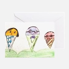 Snowcone Family Greeting Card