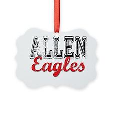 Distressed Allen Eagles T Ornament
