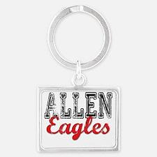 Distressed Allen Eagles T Landscape Keychain