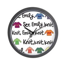 See Emily Knit Tote Wall Clock