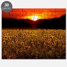 Sunflower Sunset iPad Case Puzzle