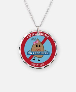 Tree Nut Allergy - Girl Necklace